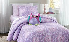 crb pc medallion twin comforter set  purple