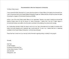 Scholarship Recommendation Letter Sample Letters Of Recommendation For Scholarship 26 Free Sample