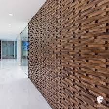 dimensional wood wall coverings with any patterns will add a luxury feel to the space