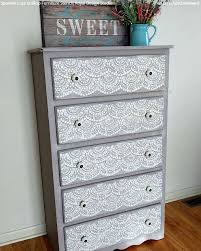 finishing your furniture with stencil designs diy painted decor