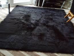 fluffy bedroom rugs black rug living room black fur rug target black furry soft rug