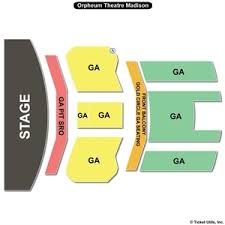 orpheum madison wi seating chart pit ga and golden circle balcony