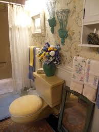 small bathroom decorating ideas on tight budget. bathroom. affordable vintage style and flowery theme small decor bathroom presenting floral wall paper print decorating ideas on tight budget h