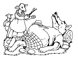 The Wolf And The 7 Kids Coloring Pages Coloring Home