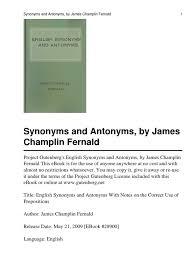English Synonyms And Antonym Luck English Language