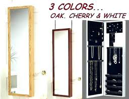 wall mount jewelry armoire mirror. Wall Mount Armoire Jewelry Mirror Black O