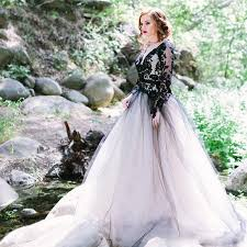 black victorian gothic lace wedding dresses with long sleeves sexy