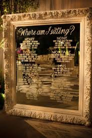 Etched Glass Seating Chart On Mirror Classy Is This What
