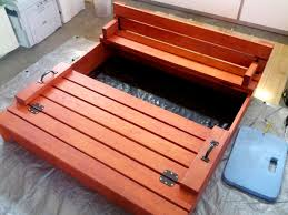 sandbox with built in lid that opens into bench seating sandbox with bench plans