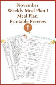 November Meal Plan Week 1 Flour On My Face