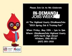 Flyer Jobs 2019 Spring Job Fair Public Flyer Ohio Means Jobs Highland