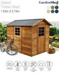 oxford timber shed 1 93m x 2 74m cedar