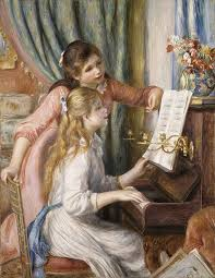 two young girls at the piano by renoir