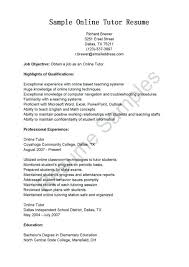 Sample Resume English Teacher Best Of Resume Samples Online Tutor Resume Sample Sample Resume Online Sales