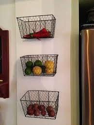 ... Wall Hanging Fruit Basket 9 Brilliant Mounted Baskets Kitchen 21 Diy  And Veggie Storage Ideas ...