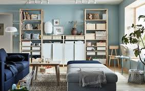 organise your living room with ikea ivar furniture storage system the light pine wood shelves