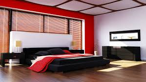 Great A Wall Of Bamboo Shades And Shoji Screen Ceiling Effect Lend Warmth And  Textural Interest To This Red And Black Bedroom. The Space Also Feels As If  It Has ...