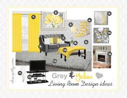 Yellow Living Room Design Brilliant Yellow And Grey Living Room Design Idea Oh So Girly For
