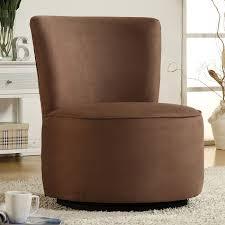 contemporary round microfiber swivel chair