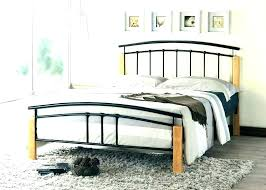 White Wrought Iron Bed Frame Full King Single Wood And Queen Sleigh ...