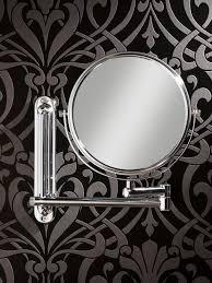 hib tila double sided extendable magnifying bathroom mirror 28200