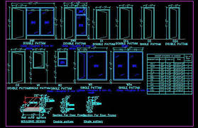 jamb section cad drawing autocad dwg