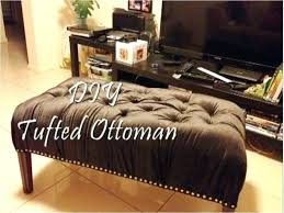 how to turn a coffee table into an ottoman convert coffee table to ottoman tufted ottoman