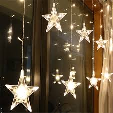 Outdoor Lighting Christmas Stars Us 9 85 31 Off 2 5m Led Christmas Star Curtain Lights 220v Eu Outdoor Indoor Garland String Fairy Lamp For Party Wedding Holiday Decoration In Led