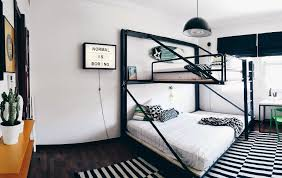 The bunk bed is just so extraordinary and so cool! I bet boys loved the room  instantly. Take a closer look to all of the photos and get the inspiration!