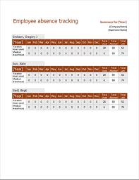 Employee Absent Employee Absence Tracker