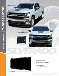 2020 2019 Chevy Silverado Hood Decal T Boss Trail Boss Stripe 3m Vinyl Graphics Kit