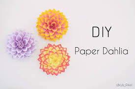 Dahlia Flower Making With Paper Diy Paper Dahlia 10 Steps With Pictures