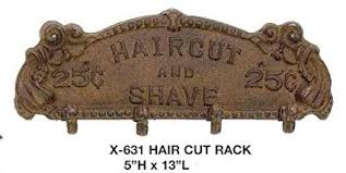 Antique Style Coat Rack Amazon Antique Style Iron Barber Haircut and Shave Coat Rack 62