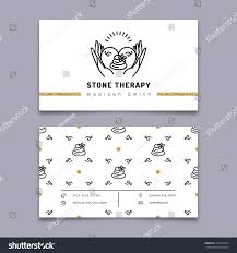 Card Outline Vector Stone Therapy Business Card Template Stock Vector Royalty
