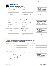 Algebra 1 Worksheets Answers Worksheets for all | Download and ...