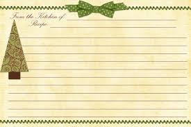 Christmas Recipe Cards Template Free Family Recipe Templates Free Printable Christmas
