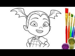 How To Draw Vampirina Coloring Pages For Kids