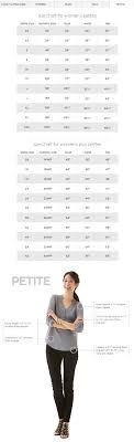 Jcpenney Size Chart Size Chart Print Close