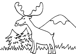 Small Picture Moose coloring Free Animal coloring pages sheets Moose