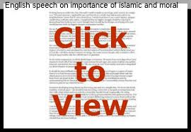 english speech on importance of islamic and moral values essay help english speech on importance of islamic and moral values