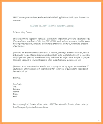 Professional References Letter Sample Professional Reference Letter Template