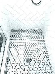 tile hexagon shower marble floor ceramic mosaic porcelain tiles design