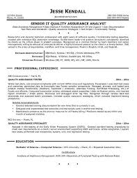 sample qa resume