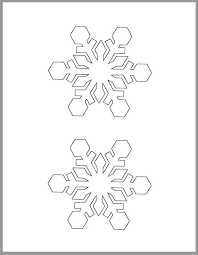 Blank Snowflake Template 4 Inch Snowflake Template Printable Snowflake Winter Crafts Christmas Decor Holiday Party Classroom Decor Kids Crafts Diy Snowflake Cutout
