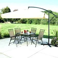 bay cantilever umbrella ft led offset patio in replacement parts hampton 11 incredible tan