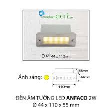 Đèn led âm tường Anfaco D 2W: Mua bán trực tuyến Đèn LED với giá rẻ