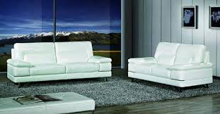 maxwest p893 modern white genuine leather sofa and loveseat set 2 pcs order