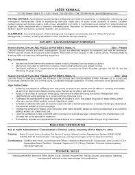 Sample Security Officer Resume Police Resume Sample Security Officer Resume Objective Security