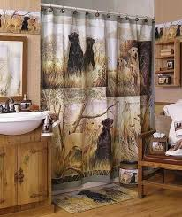 cabin decor lodge sled: image detail for lodge and cabin home gtgt hunting dogs decor gtgt bathroom