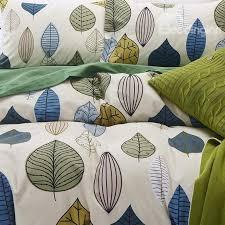 66 colorful leaves print european style cotton 4 piece bedding sets duvet cover